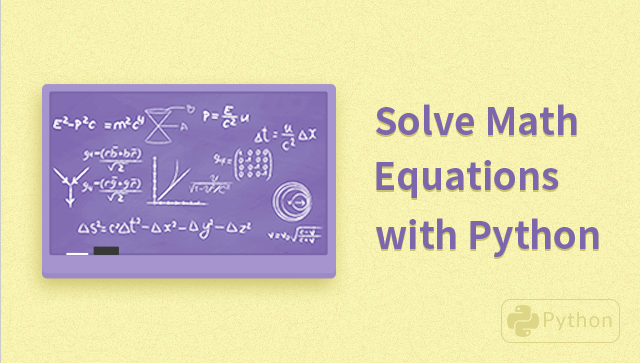 Solve Math Equations with Python