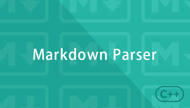 Building Markdown Parser with C++